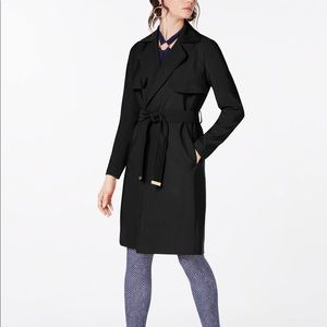 NWT Michael Kors Black Belted Trench Coat MK102